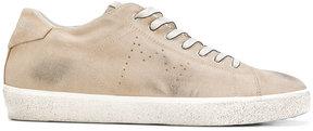 Leather Crown worn look sneakers