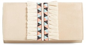 Shiraleah Rada Embroidered Clutch - Beige