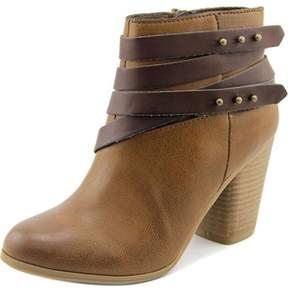 Material Girl Mini Women Round Toe Synthetic Brown Ankle Boot.
