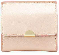 Neiman Marcus Saffiano Leather Flap Card Coin Pouch