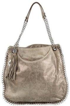 MICHAEL Michael Kors Metallic Suede Tote - GOLD - STYLE