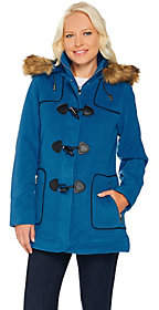 C. Wonder As Is Faux Wool Zip Front Coat with Toggle Detail