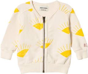 Bobo Choses Buttercream Sun Zipped Sweatshirt