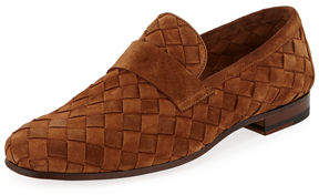 Magnanni Woven Suede Penny Loafer