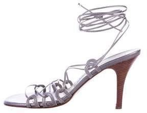 Fratelli Rossetti Metallic Lace-Up Sandals