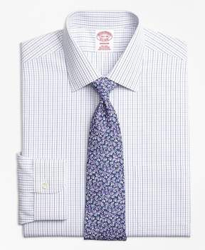 Brooks Brothers Non-Iron Madison Fit Alternating Windowpane Dress Shirt