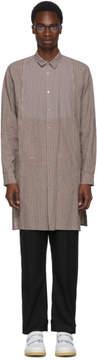 Robert Geller Grey Striped Theodore Shirt