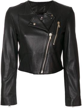 Capucci asymmetric biker jacket