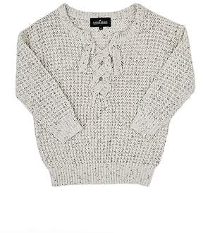 Little Remix Kimmy Lace-Up Textured-Knit Sweater