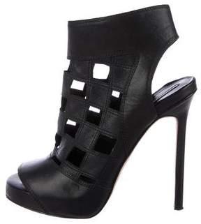Camilla Skovgaard Leather Peep-Toe Booties