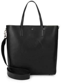 Anya Hindmarch Ebury Smiley Leather Tote Bag