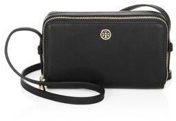 Tory Burch Parker Double-Zip Leather Mini Bag - BLACK - STYLE
