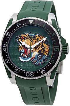 Gucci Dive Green (Tiger Head) Dial Men's Watch
