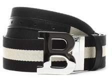Bally Men's Black Leather Belt.