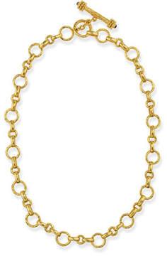 Elizabeth Locke Siena Gold 19k Link Necklace, 17L