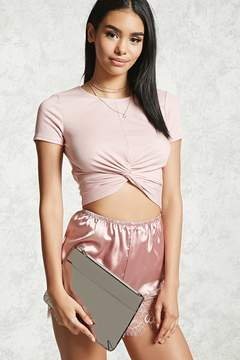 Forever 21 Reflective Faux Leather Clutch