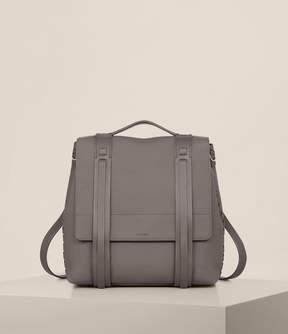 AllSaints Fin Lea Backpack