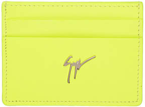 Giuseppe Zanotti Yellow Neon Logo Card Holder