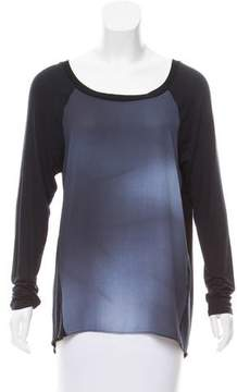 T Tahari Long Sleeve Round Neck Top