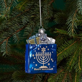 Kurt Adler Hanukkah Gift Bag Ornament