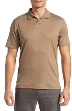 Saks Fifth Avenue MODERN Aqua Cotton Johnny Collar Shirt