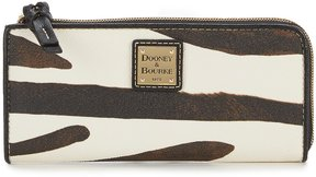 Dooney & Bourke Serengeti Collection Zebra-Print Zip Clutch - ZEBRA/BLACK - STYLE