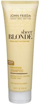 John Frieda Sheer Blonde Highlight Activating Enhancing Shampoo, For Lighter Shades For Platinum to Champagne Blondes