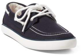 Ralph Lauren Sander Boat Shoe Navy Canvas 3.5