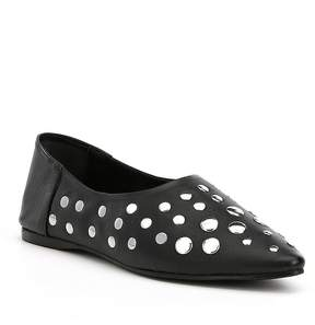 Naughty Monkey Hariette Studded Leather and Suede Flats