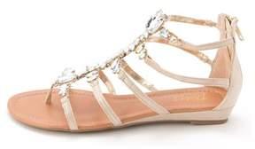 Thalia Sodi Pilar Canvas Gladiator Sandals.