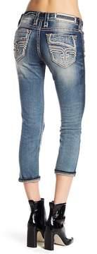 Rock Revival Rhinestone Accented Capri Jeans