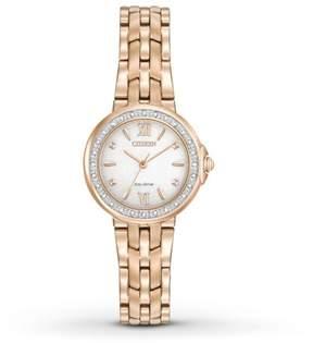 Citizen Ladies' Diamond EM0443-59A White/Rose Gold Analog Eco-Drive Women's Watch