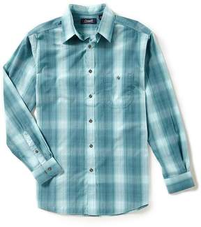Roundtree & Yorke Casuals Long-Sleeve Ombre Plaid Sportshirt