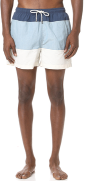 Solid & Striped The Classic Colorblocked Trunks