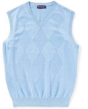 Roundtree & Yorke Diamond Texture Sweater Vest
