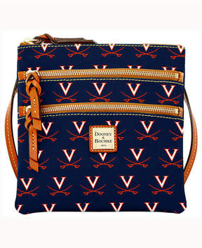 Dooney & Bourke Virginia Cavaliers Triple-Zip Crossbody Bag - NAVY - STYLE