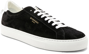 Givenchy Suede Urban Street Low Top Sneakers in Black.