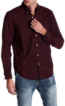 Lucky Brand Saturday Stretch Military Oxford Shirt