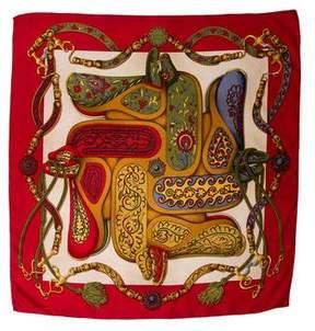 Hermes Festival Des Amazones Silk Scarf