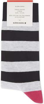 Bjorn Borg Stripe cotton-blend ankle socks