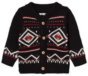 Catimini Black Fairisle Knit Cardigan