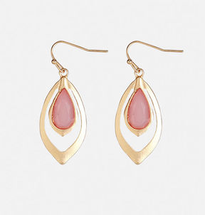 Avenue Blush Teardrop Earrings