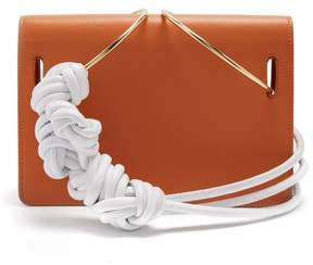 Roksanda Dia Leather Knotted Shoulder Bag - Womens - Tan White