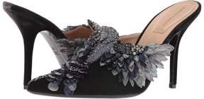 Alberta Ferretti Embroidered High Heel Mule High Heels