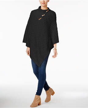 Charter Club Lattice Weave Poncho, Created for Macy's
