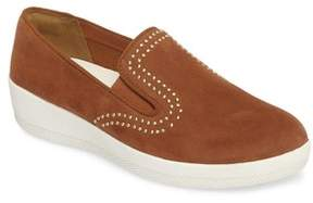 FitFlop Women's Superskate Studded Wedge Loafer