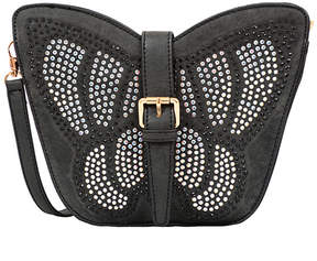 Mellow World Black Avery Butterfly Crossbody Bag - Girls