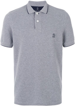 Brunello Cucinelli contrast detailing polo shirt