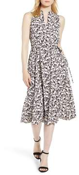 Anne Klein Floral Drawstring Dress