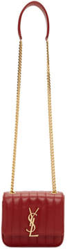 Saint Laurent Red Small Vicky Monogramme Chain Bag